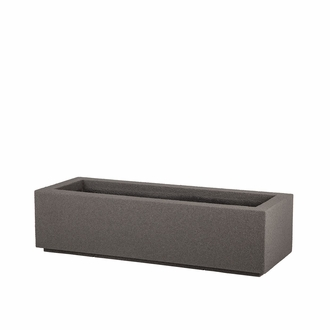 Regatta Short Trough Planter with Toe Kick - Urban Graphite
