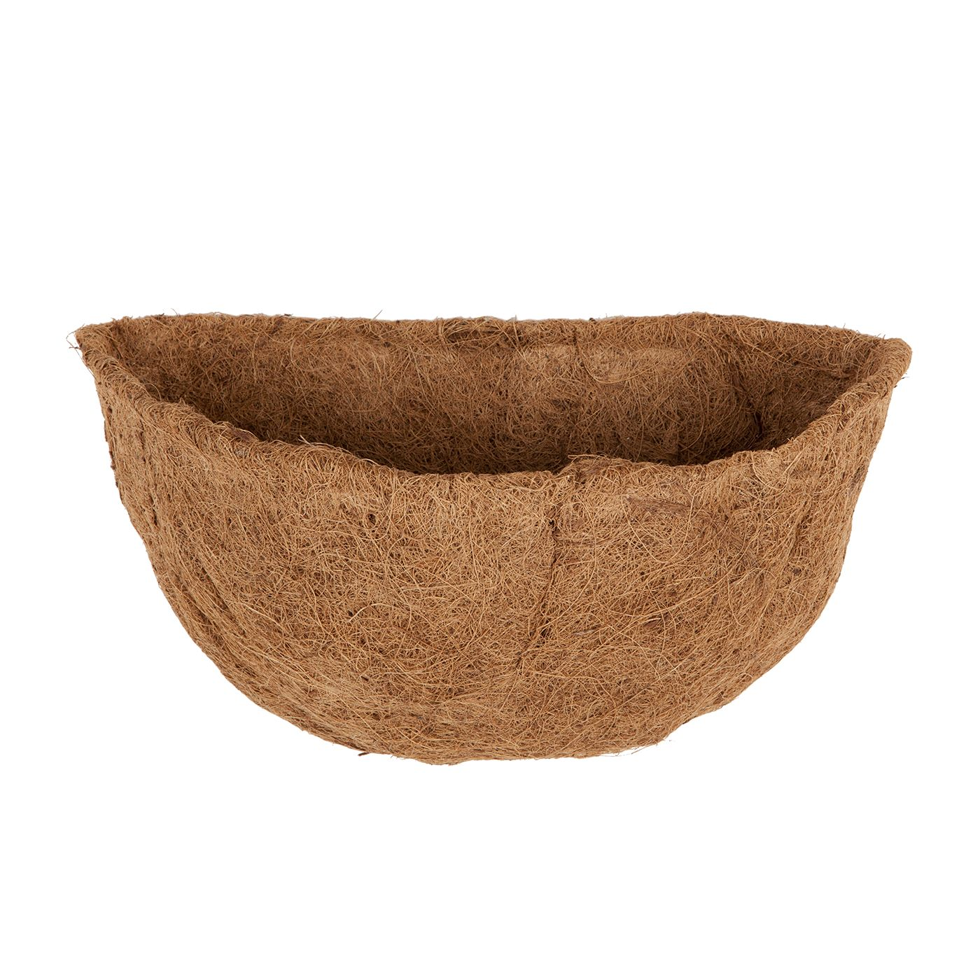 Natural Coconut Coir Basket Liners For Half Round Wall Planters