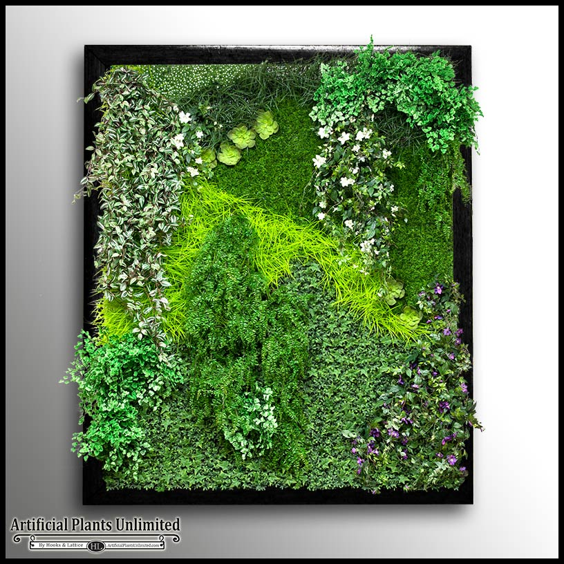 Cedar Framed Replica Green Wall Artificial Plants Unlimited