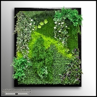 Replica Indoor Artificial Living Wall 120in.L x 72in.H w/ 12in. Frame