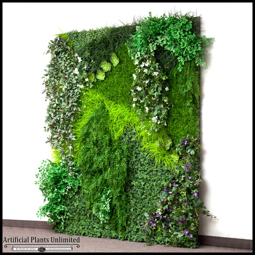 assembled replica indoor vertical garden|artificial plants unlimited Fake Interior Plants