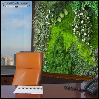 Replica Indoor Artificial Living Wall 96in.L x 48in.H