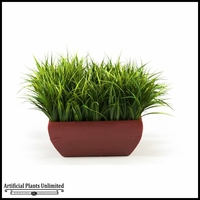 River Grass in Square Wooden Planter, 16 in.