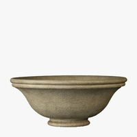 Roma Bowl Cast Stone Planter 24in.D x 12.5in.H
