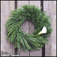 Rosemary Wreath with Flower