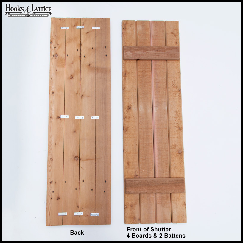 Rustic wood exterior shutters pair hooks lattice for 18 inch wide exterior shutters