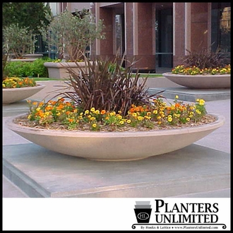 Perfect Round Planters - Large Round Planters in Custom Sizes Available BW26