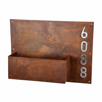 Rustic Wall Planter and Address Sign