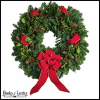 Holly Jolly Berry Wreath - 24in