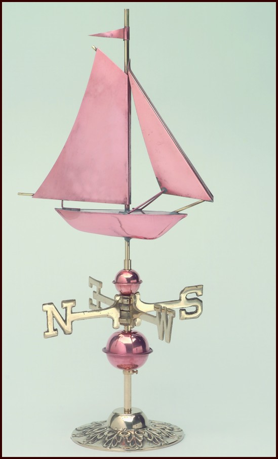 Sailboat Tabletop Weathervane Click To Enlarge
