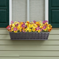 Santiago Decora Window Boxes with Black Galvanized Liners