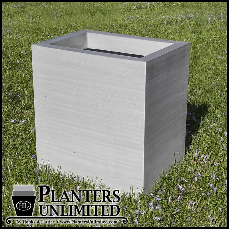 Satin Aluminum Square Planters Click To Enlarge