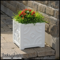 Savannah Patio Planter-White