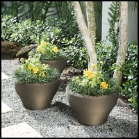 Scottsdale Tapered Bowl Planters