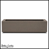 Regatta Short Trough Planter with Toe Kick - Concrete Grey