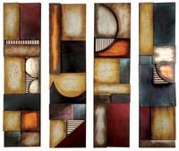 "Set of Four 8""W x 31""H Contemporary Wall Decor Panels"
