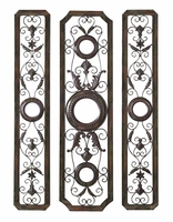 """Set of Three 57""""H Wrought Iron Grill Panels"""