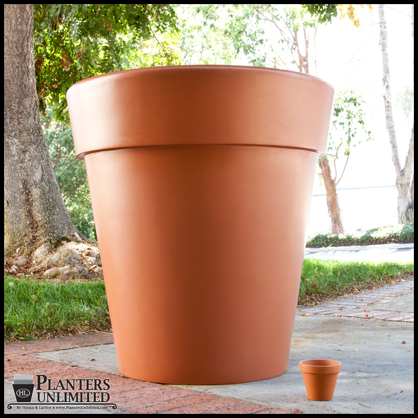 Giant Garden Pots Terracotta planter giant terra cotta pots planters unlimited seville large terracotta pot click to enlarge workwithnaturefo
