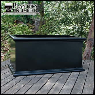 Sienna Fiberglass Commercial Planter 48in.L x 18in.W x 24in.H