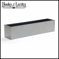 Silver-Tone Galvanized Window Boxes & Planters