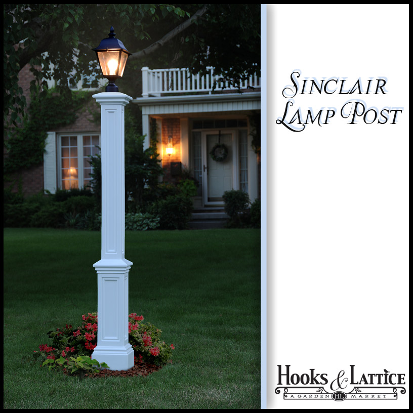 Sinclair lamp post with aluminum ground mount white mozeypictures Images
