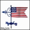 Small American Flag Weathervane