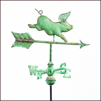 Small Whimsical Pig Weathervane