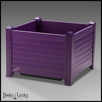 Niguel 18in. Square Planter in Eggplant