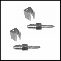"Stainless Steel ""Acorn"" (Bullet Style) Shutter Catch - Pair"