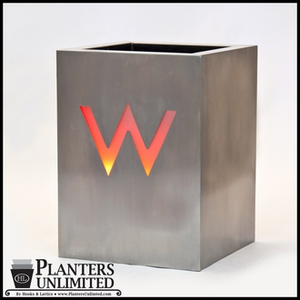 Stainless Steel Commercial Planter 12in.L x 12in.W x 12in.H