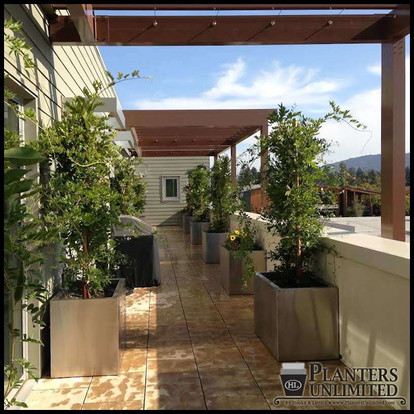 Stainless Steel Planters Steel Planter Boxes Planters Unlimited