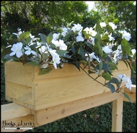 Standard Cedar Rail Top Flower Box 38in.