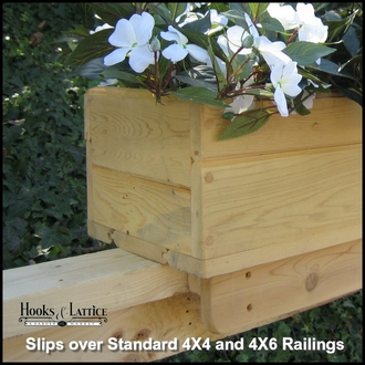 Standard Cedar Rail Top Flower Box