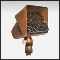 Starburst Low Voltage Up Light - Weathered Brass