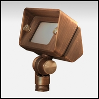 Stellar Low Voltage Up Light - Weathered Brass