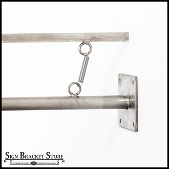 Straight Arm Tension Bracket System - 32in. Stainless Steel Round Banner Arms