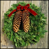 Tahoe Pine Christmas Wreath - 27in.