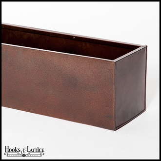 54in. Metal WindowBox Liner, Textured Bronze Finish