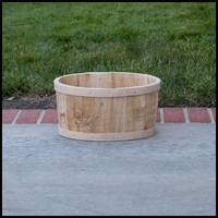 The Buckland Cedar Tub Planter - 13in. Dia.