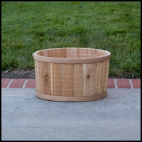 The Buckland Cedar Tub Planter - 16in. Dia.