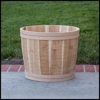 The Buckland Cedar Tub Planter 17in. Dia.