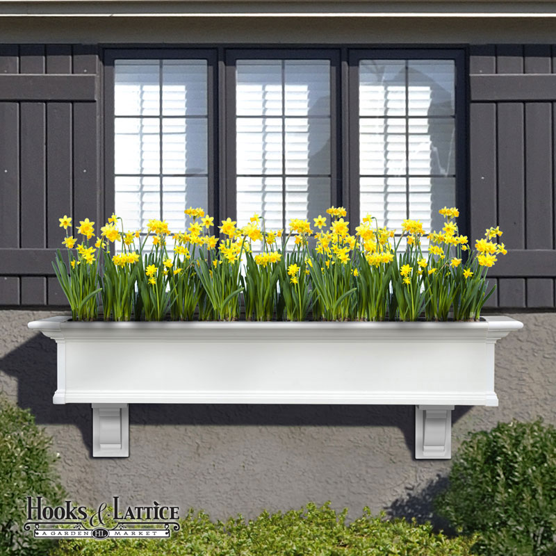 Provincial Vinyl Window Box Top Quality Low Maintenance