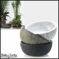 Tinley Ceramic Low Bowl Planter
