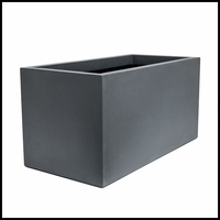 Titan Rectangular Weathered Stone Planter 51in.L x 20in.W x 28in.H