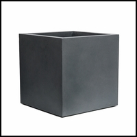 Titan Square Weathered Stone Planter 18in.L x 18in.W x18in.H