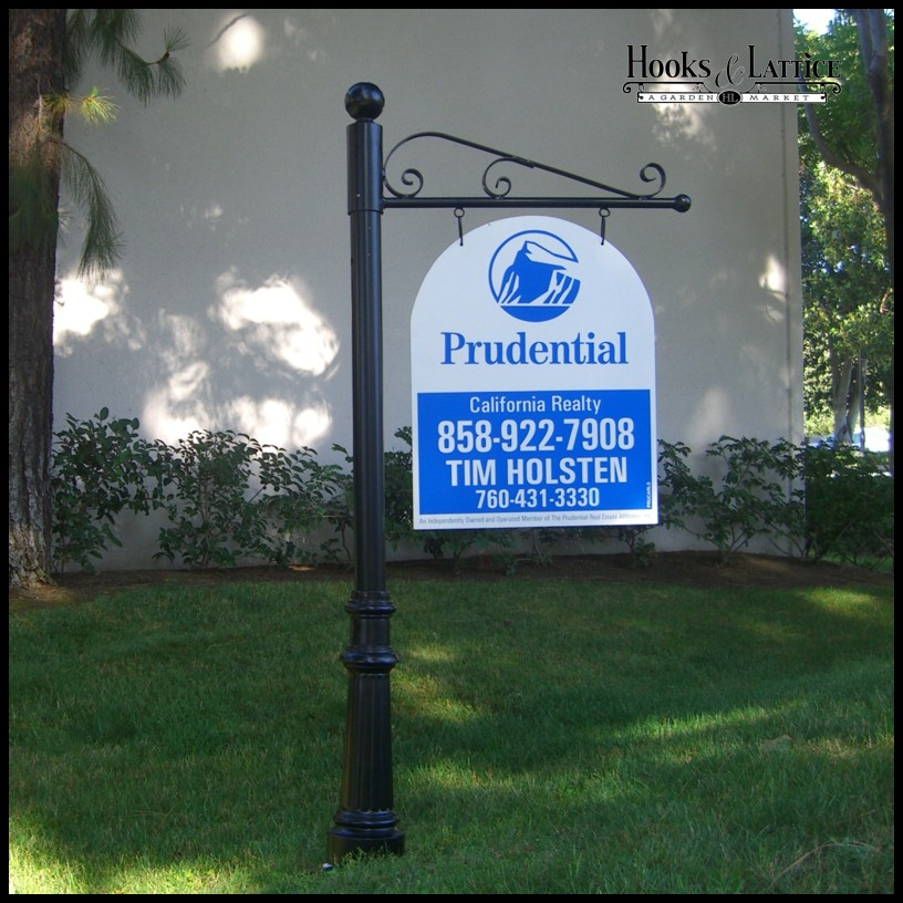 Aluminum Torino Single Post Sign System 30in Or 40in