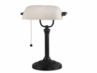 Traditional Banker style Desk Lamp - Oil Rubbed Bronze
