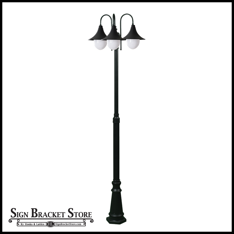 Transitional 3 light post fixture 120v click to enlarge aloadofball Image collections