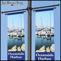 Trapeze Style Pole Mount Banner Brackets