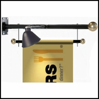 Trapeze Style Wall Mount Banner Bracket